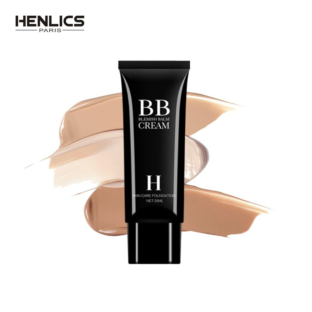 Henlics 35ml Natural Flawless BB Cream Whitening Moisturizing Concealer Nude Foundation Make Up Base