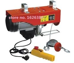 100--300KG 12--30M 220V 50Hz 1-phase mini electric steel wire rope hoist, lifting PA mini block, crane equipment lifting