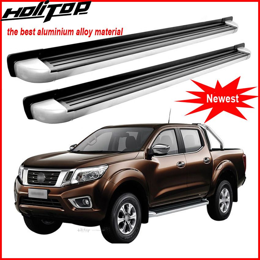 Match for NISSAN Navara NP300 2015-2018 foot board side bar running board pedals.thicken aluminum alloy.Asia free shipping.