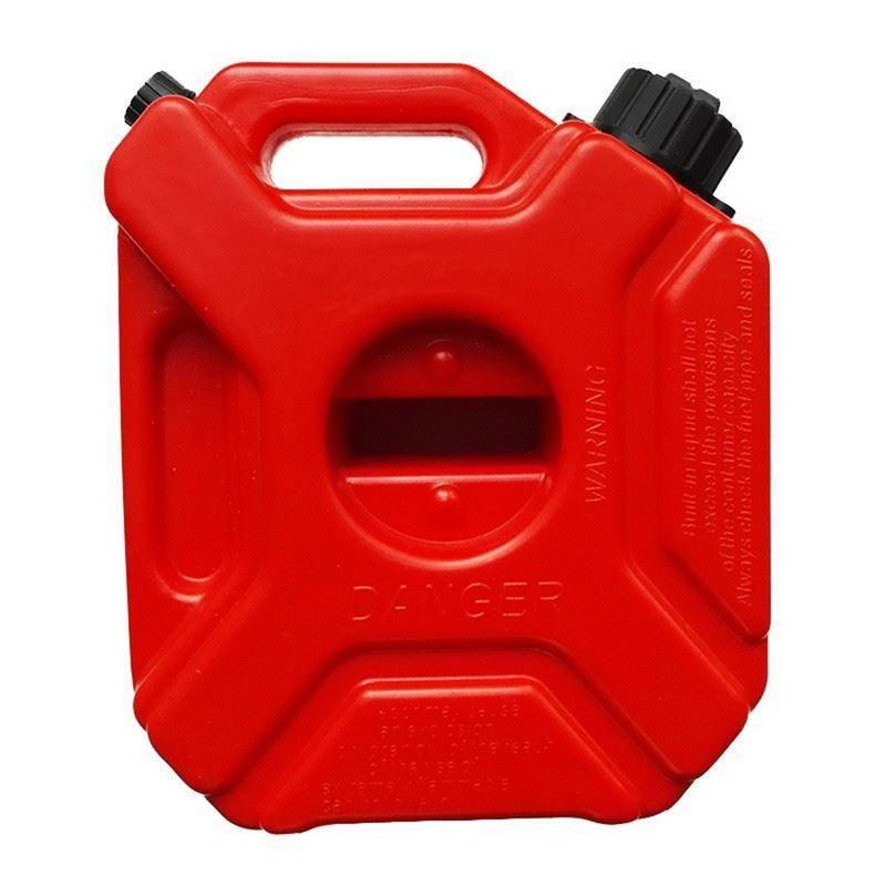 1 stücke Auto Ersatz 5 Liter Anti-statische Kunststoff Benzin Können Hohe Qualität Und Große Kapazität Auto Öl Trommel rot Farbe Mit Halter