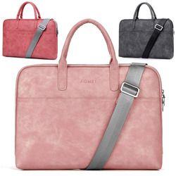 13 13.3 14 15 15.6 17 17.3 Inci Tahan Air PU Laptop Solid Notebook Tablet Bag Tas Case Messenger Bahu Lengan untuk Pria Wanita