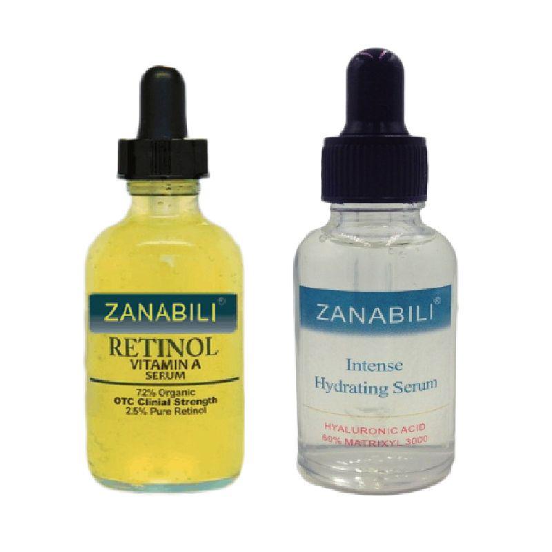 Pur rétinol vitamine A 2.5% + 60% MATRIXYL 3000 acide hyaluronique rétinol sérum pour le visage hydratant Anti-rides crème pour le visage 2 pièces