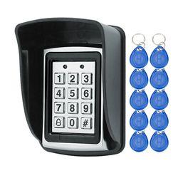 Rfid металла Клавиатура доступа с Водонепроницаемый крышка бесконтактных двери Управление Лер Электрический замок + 20 штук 125 кГц брелки