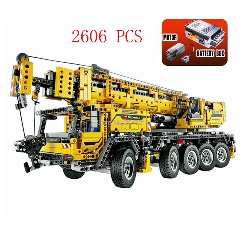 LegoINGlys technic Creative electric Mobile crane MKII Building Blocks 42009 Engineering vehicles model brick toys for children