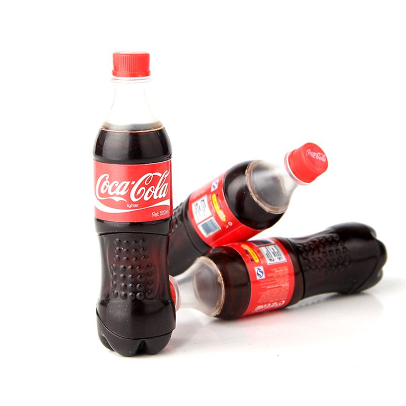 New style Butane gas lighters Coke bottle shape novelty lighter