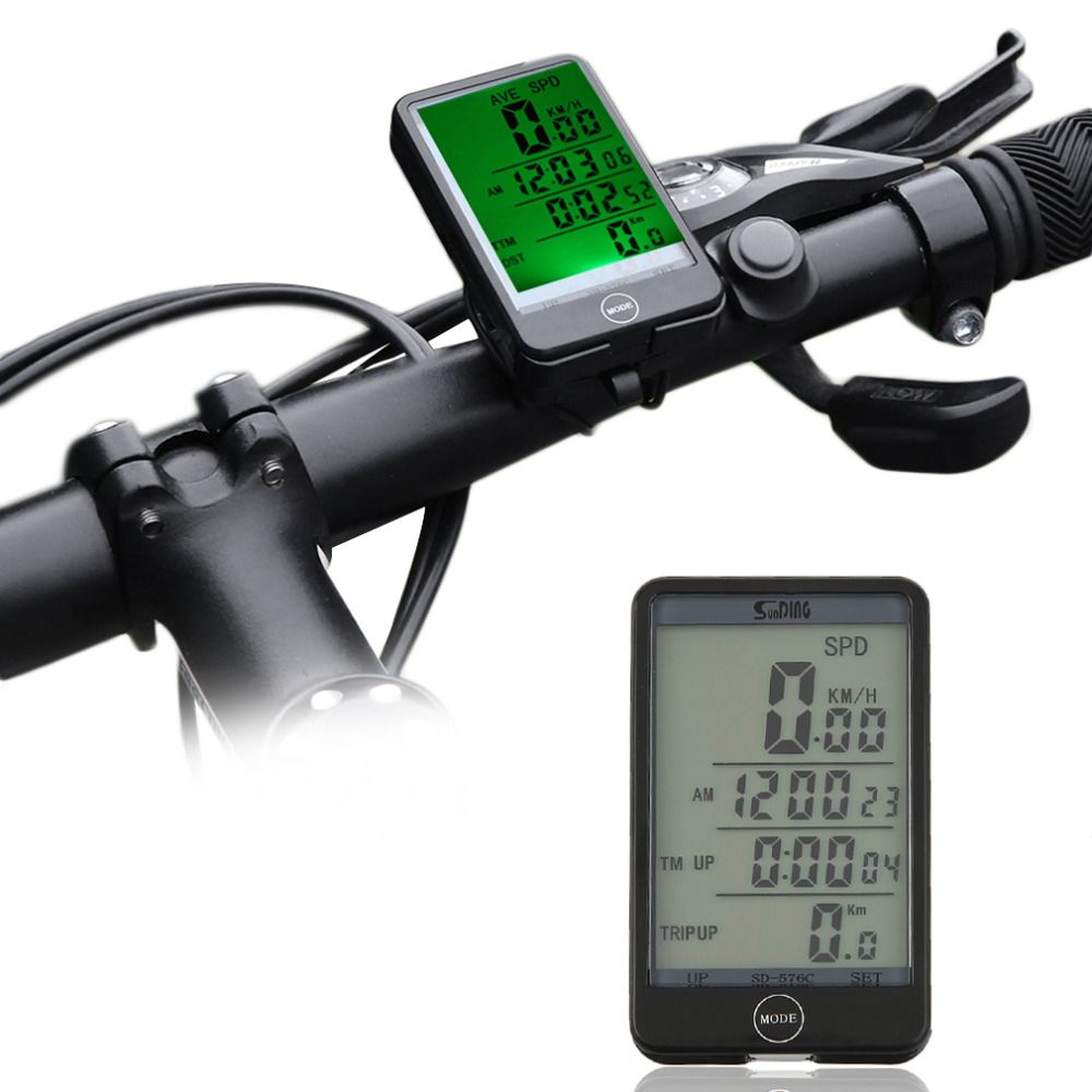 Sunding 29 Functions Wireless Cycling Bike Computer Speedometer Odometer Stopwatch With Battery