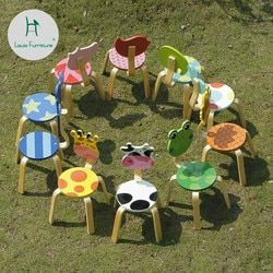 Louis Fashion Children Chairs Simple Modern Solid Wood Cartoon Animal Kindgarden Stool Lovely