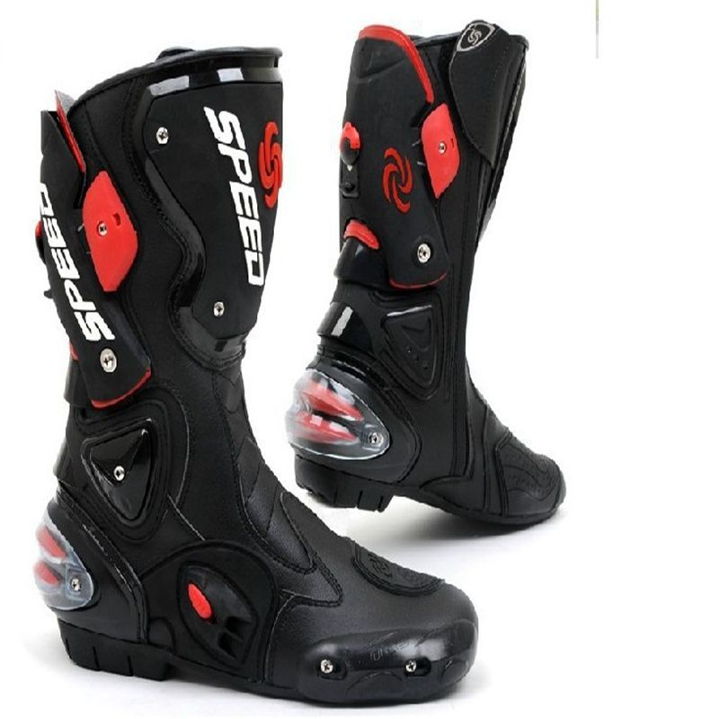 Hot Promotion Long Motorcycle Shoe Sport Motocross Cycling Long Boots Racing Gears Speed Bikers B1001
