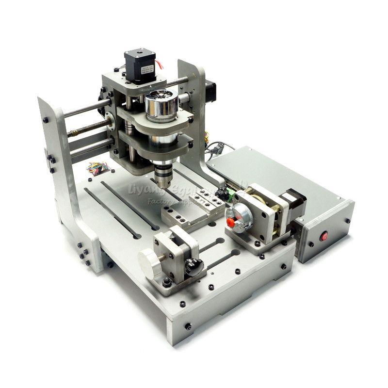 4 Axis 300W Spindle Mach3 Control CNC Router Engraver CNC USB port mini PCB Milling Machine