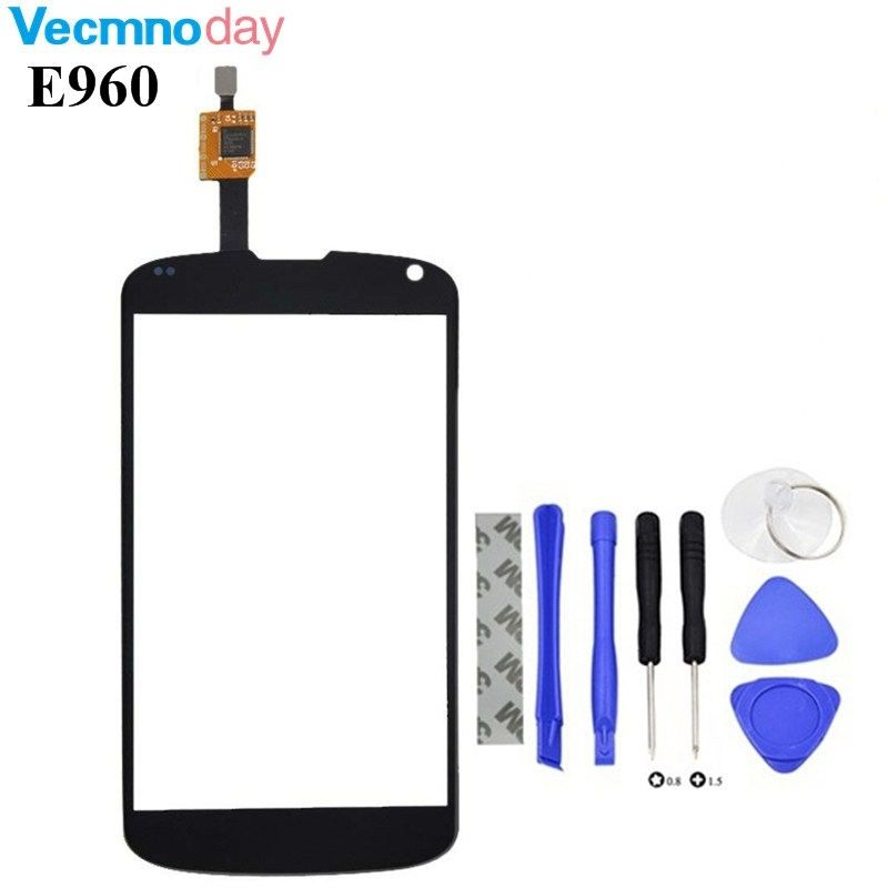 Vecmnoday 1PC/Lot E960 Touch Panel For LG Nexus 4 E960 Dual Touch Screen Digitizer Front Glass Sensor Replacement