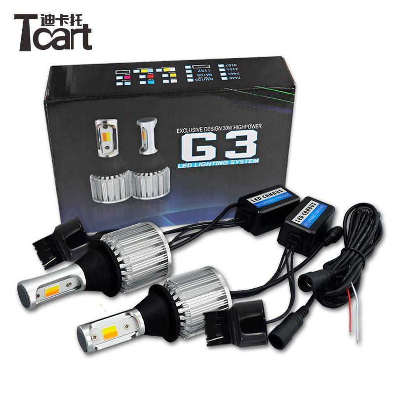 T20 led 7440 car accessories LED car turn signal led DRL 30W cob