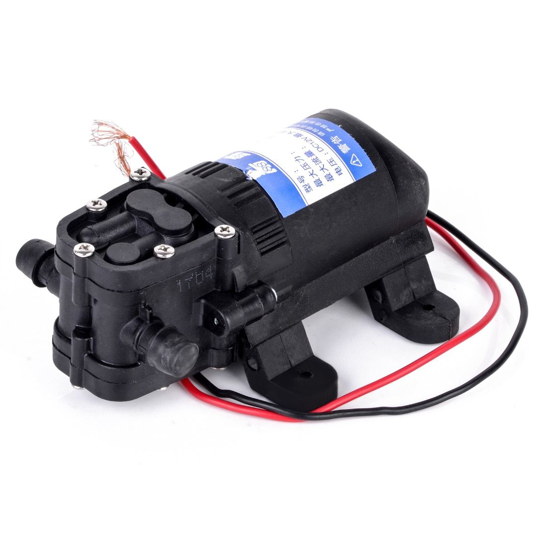 1pc DC 12V Agricultural Electric Diaphragm Water Sprayer Pump 70 PSI Durable Black Water Pumps For Home Garden Caravan Use