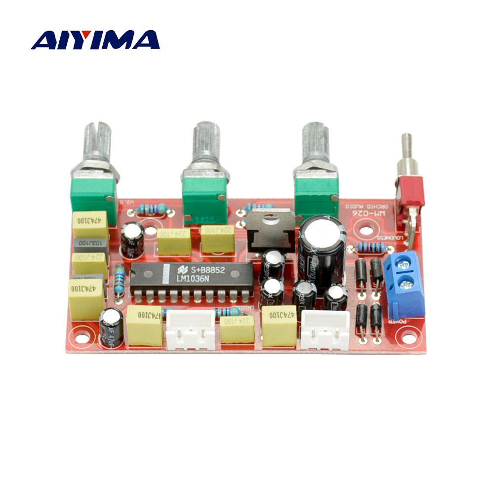 Aiyima HiFi лихорадка LM1036 Предварительный усилитель тон доска бас высокие Volume Управление pre-AMP совета