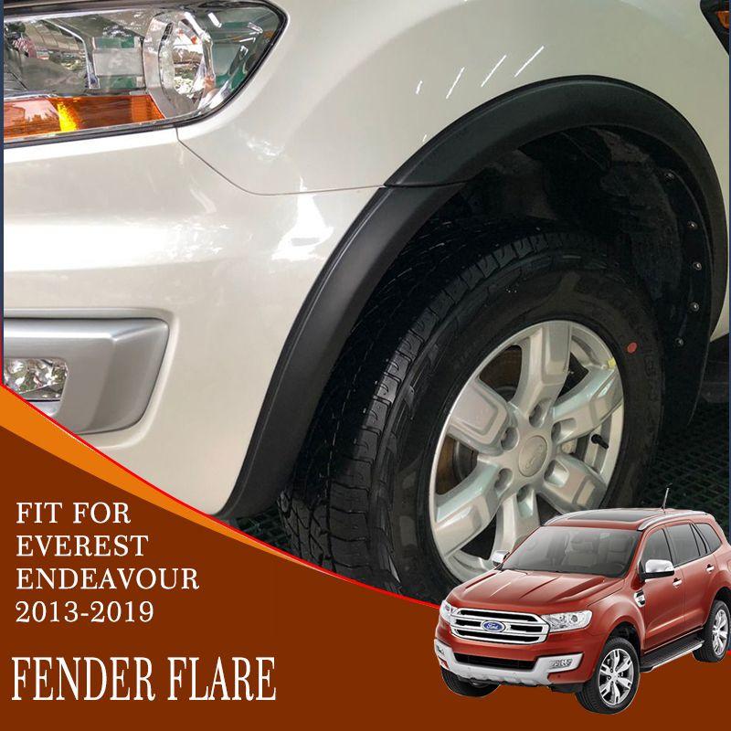Fender flare abdeckung hohe qualität ABS schwarz kunststoff auto geändert zubehör dekoration kotflügel für ford everest endeavor 2015