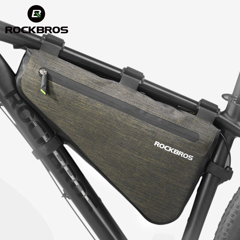 ROCKBROS Bike Triangle Bag Portable Large Capacity Rainproof Cycling Bag MTB Road Bicycle Front Frame Tube Bags Accessories