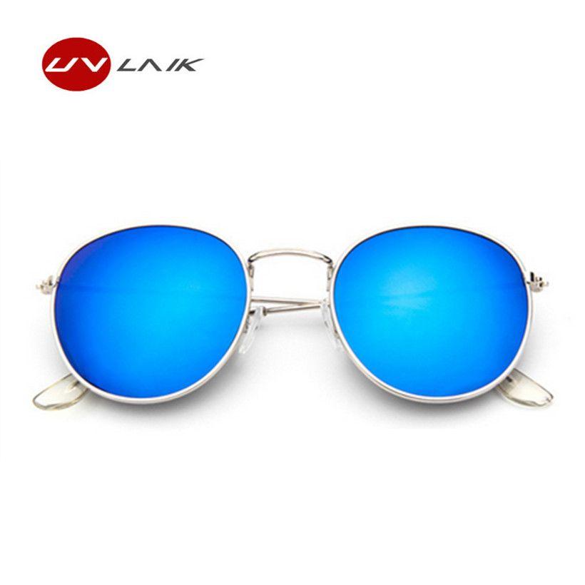 2017 Mode Tendance Circulaire Cadre lunettes de Soleil Femmes Revêtement Réfléchissant Miroir Lunettes Femelle UV400 Vintage Marque Conception Lunettes