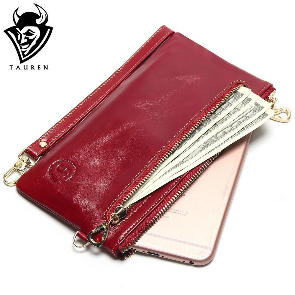 2018 New Women's Slim Wallets Mini Small Handbag Leather Simple Leather Hand Grasping Coin Purse Mobile Phone Packet
