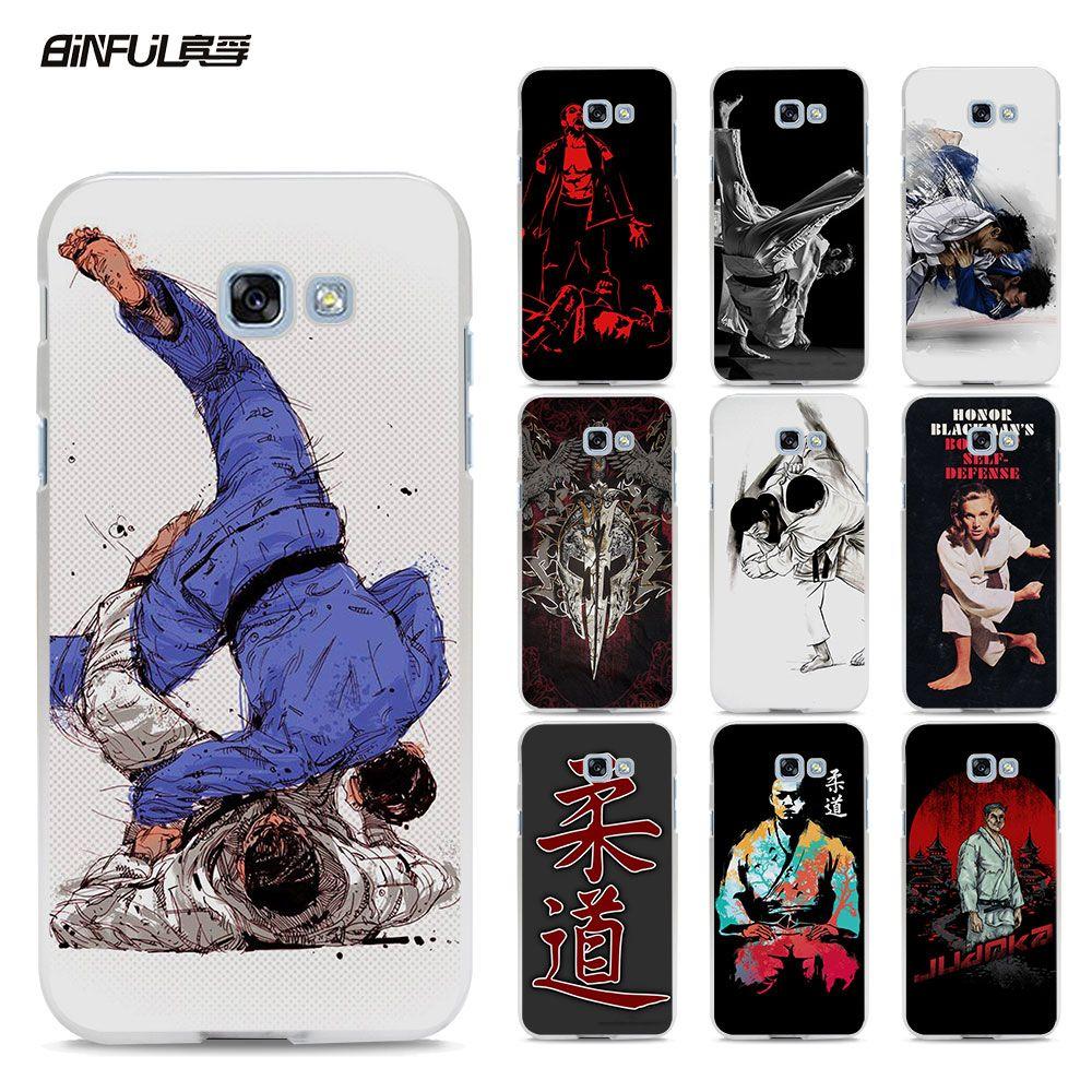 BiNFUL Janpan Judo design hard White Phone Case Cover for Samsung Galaxy A510 A5 2017 A7 A710 A310 A8 A9