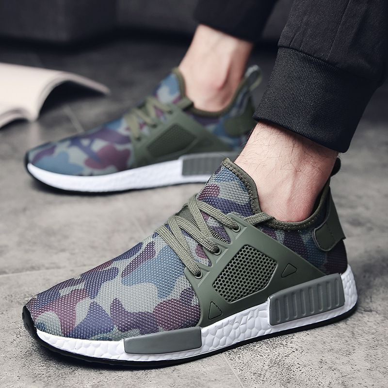 Summer Breathable Camouflage Sneakers Men New Brand Casual Shoes Man Hombre Army Green Mens Shoes Casual Footwear Large Size