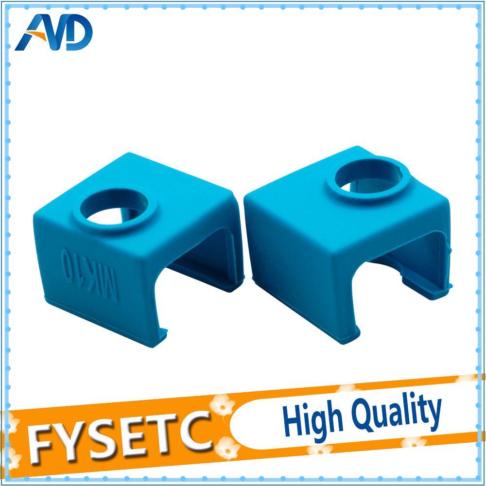 2PC MK10 Silicone Sock Blue instead Ceramic Insulation For Wanhao i3 QIDI TECH Flashforge SILICONE HEATER BLOCK COVER