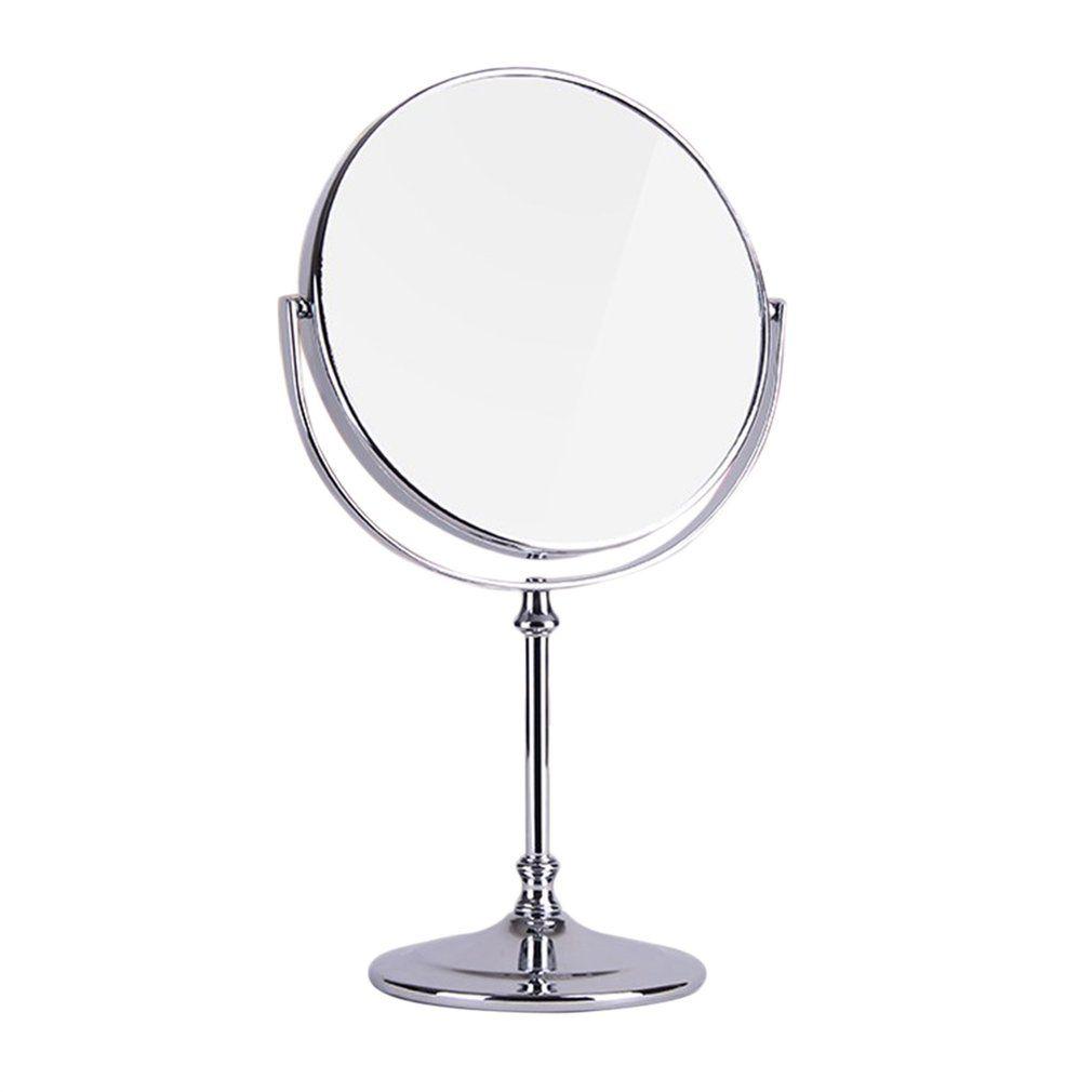 1 шт. новый двухсторонний Высокое разрешение Desktop зеркало Европейской Стиль 3 раза увеличить fodable Макияж зеркало маленький круглый зеркало