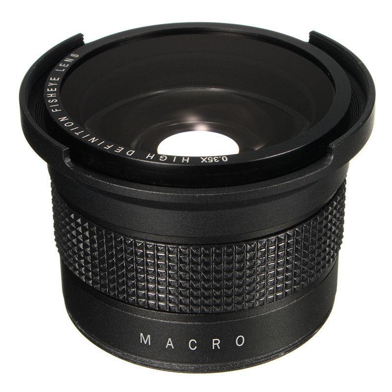 0.35X Super Wide Angle Fisheye Macro Lens 58mm For Canon EOS 700D 650D 600D 550D 1100D 1200D 760D 70D Rebel T6i T5i With 18-55mm