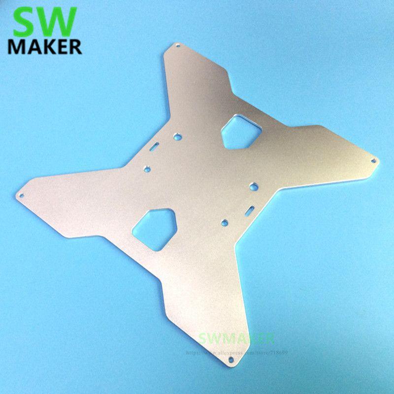 SWMAKER TEVO Tarantula 3D imprimante aluminium Y chariot plaque de support chauffée mise à niveau type d'oxydation pour imprimante HE3D/tarentule 3D