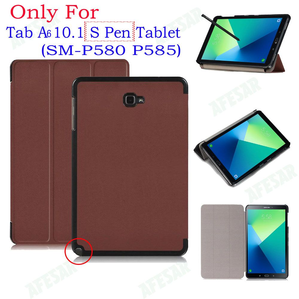 UltraSlim Flip Cover Case For Samsung Galaxy 2016 Tab A A6 10.1 With S Pen tablet SM-P580 P585 Smart Shell Stand cover case