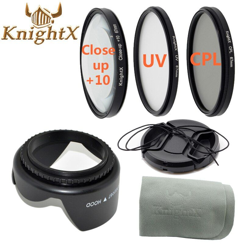 KnightX ND UV FLD CPL lens Filter Set Cleaning Cloth For Nikon Sony Canon DSLR T5i T4i T3i T3 T2i 49MM 52mm 58mm 67mm 55mm lens