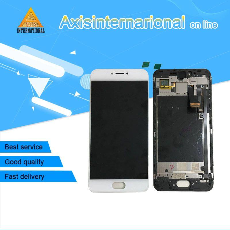 Pour 5.2 ''Meizu pro 6 s Axisinternational LCD affichage écran + Tactile Digitizer avec cadre blanc/noir Livraison shippi