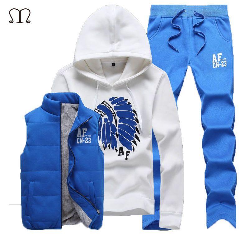 Winter Design custom xxxxl Track suits Men Track suits man tracksuit jacket vest pants men clothing set suit men Coat MS001