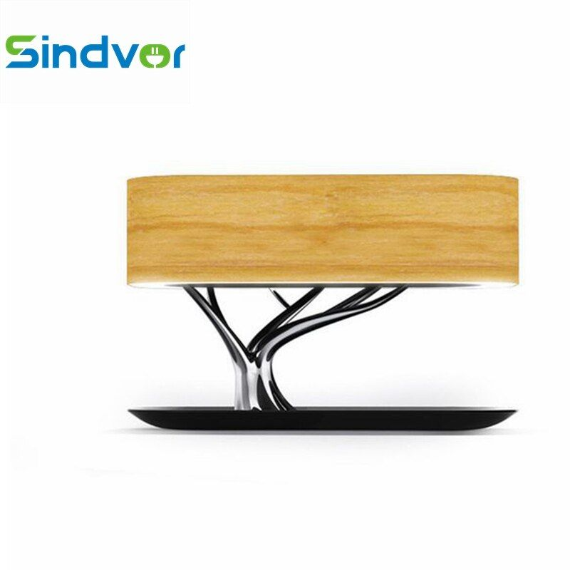Sindvor Tree Lamp Wireless Charger Bluetooth Speaker Fast Charging(QI) LED Lamp Auto Sleep For iPhone X 8 8 Plus Samsung Galaxy