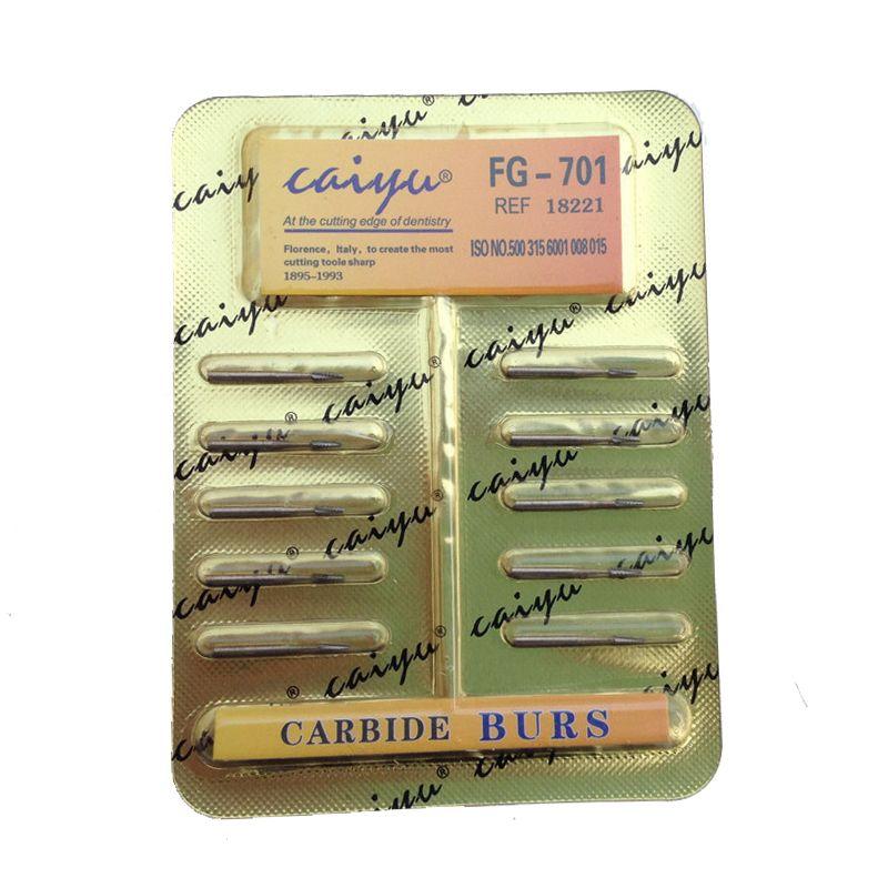 Fraises dentaires de carbure d'acier de tungstène de laboratoire dentaire 10 pièces/pack pour le peu à grande vitesse de pièce à main livraison gratuite