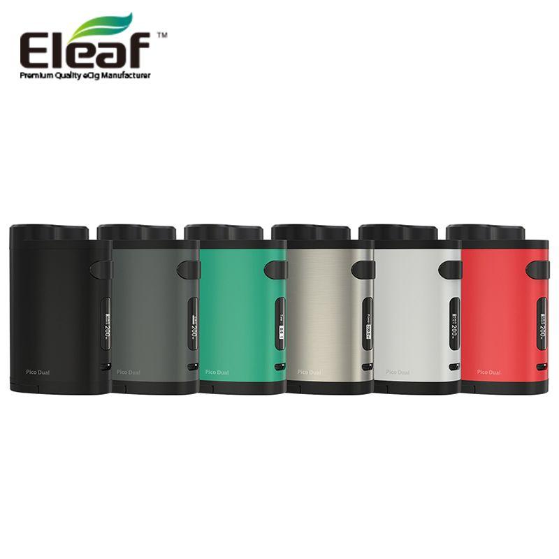 Original Eleaf iStick Pico Dual 200 Watt TC Box Mod VW/TC Modi 510 Gewinde Elektronische Zigarette Vape Mod ohne 18650 Batterie