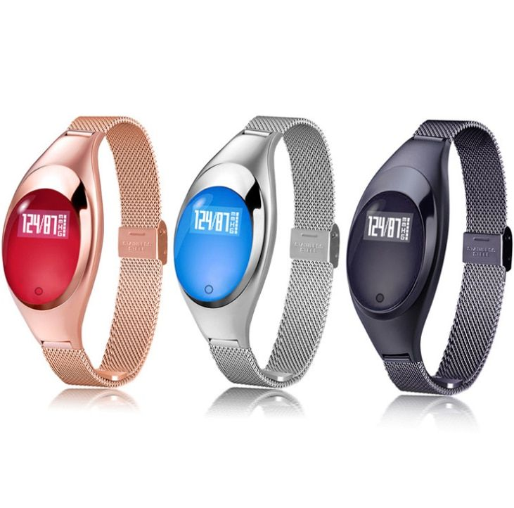 Women Fashion Z18 Smart Watch Bracelet Smartwatch With Blood Pressure Heart Rate Monitor Fitness Tracker For IOS Android
