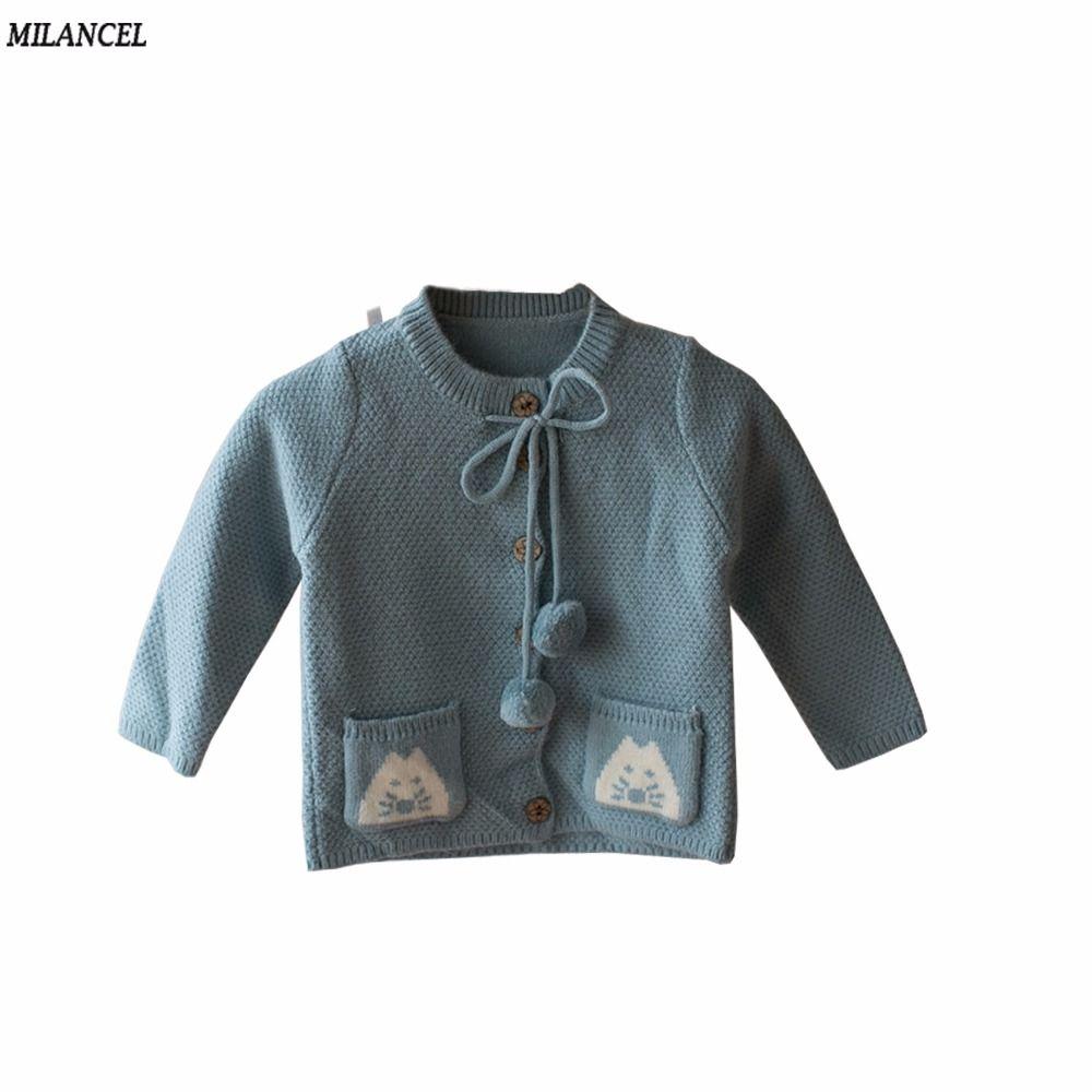 Milancel От 1 до 4 лет Кардиган для девочек Дети животных печати Свитеры для женщин Верхняя одежда для маленьких девочек осенне-зимняя детская од...