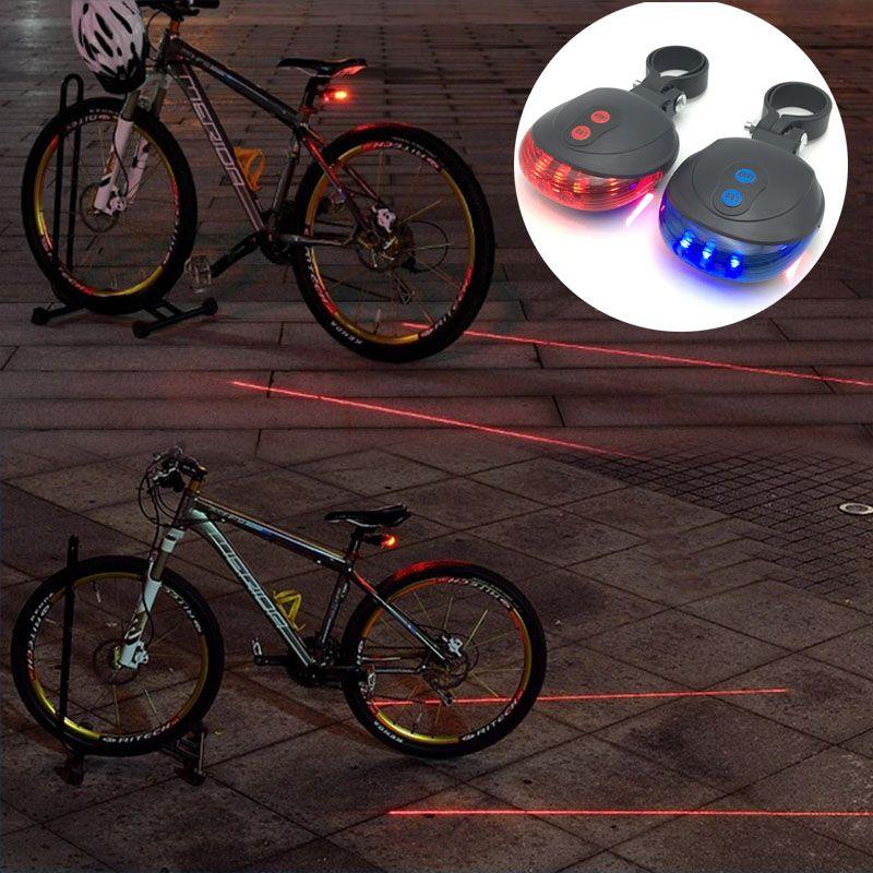 Zk20 LED Велосипедный Спорт велосипед свет ночь Mountain 5 LED + 2 Laser Фонарь MTB Детская безопасность Предупреждение Велосипедный Спорт заднего света л...