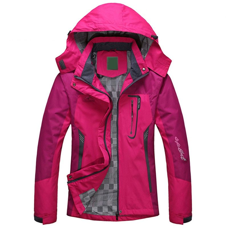 2018 Spring Autumn Winter Women Jacket Single thick outwear Jackets <font><b>Hooded</b></font> Wind waterproof Female Coat parkas Clothing
