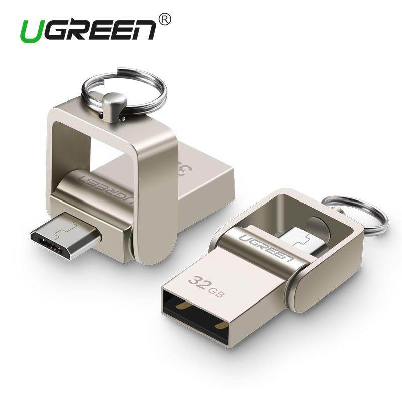Ugreen USB Flash Drive, 64 GB Métal Clé Usb OTG Haute Vitesse USB Memory Stick 32 GB D'entraînement de stylo de Vraie Capacité 16 GB USB Flash U disque