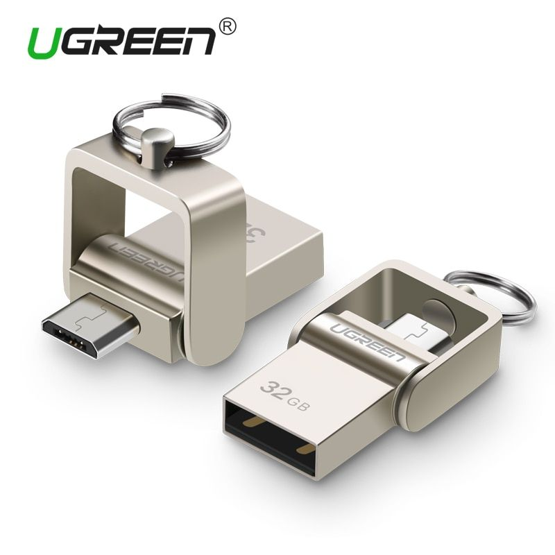 Ugreen USB Flash Drive, 64GB Metal OTG Pendrive High Speed USB Memory Stick 32GB pen Drive Real Capacity 16GB USB Flash U disk