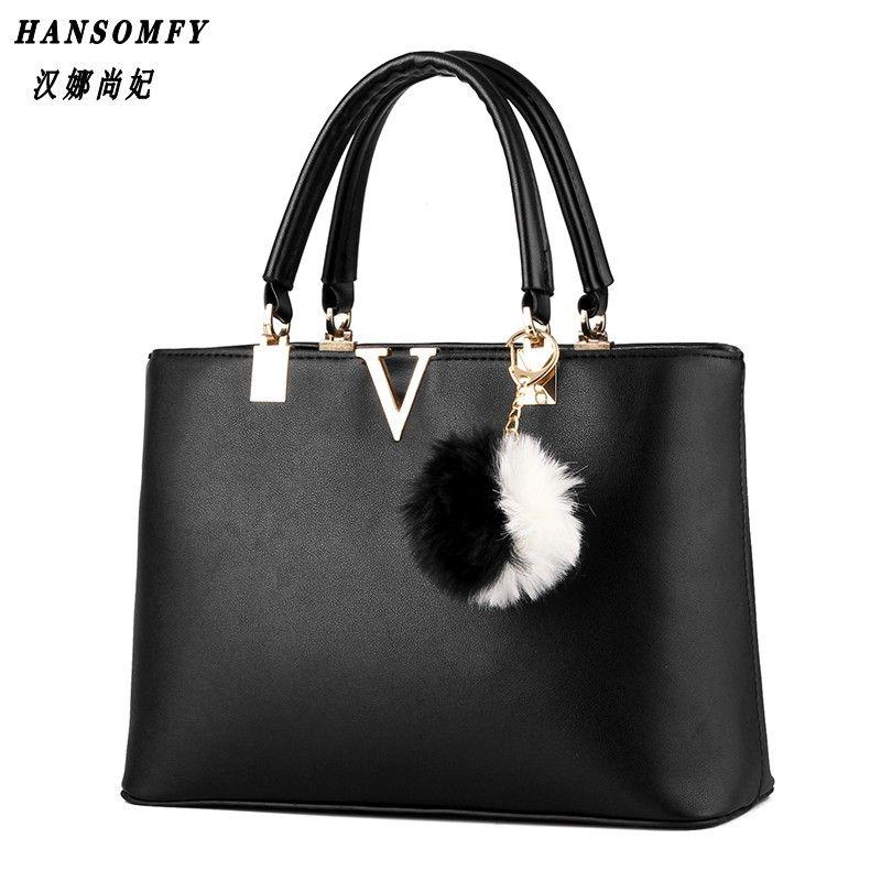 100% Genuine leather Women handbags 2018 New bag female V word sweet lady fashion handbag Messenger bag shoulder bag