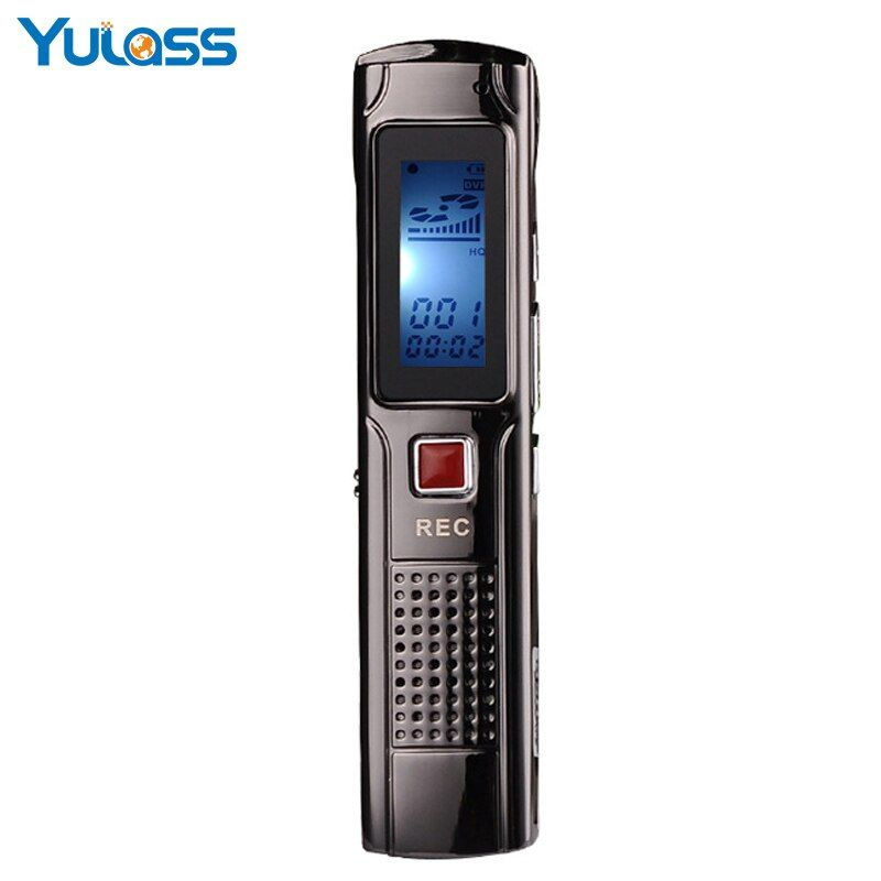 Yulass Mini Digital Voice Recorder Wiederaufladbare 8 GB Voice Activated USB Digital Audio mit MP3 WMA Format Kostenloser Versand