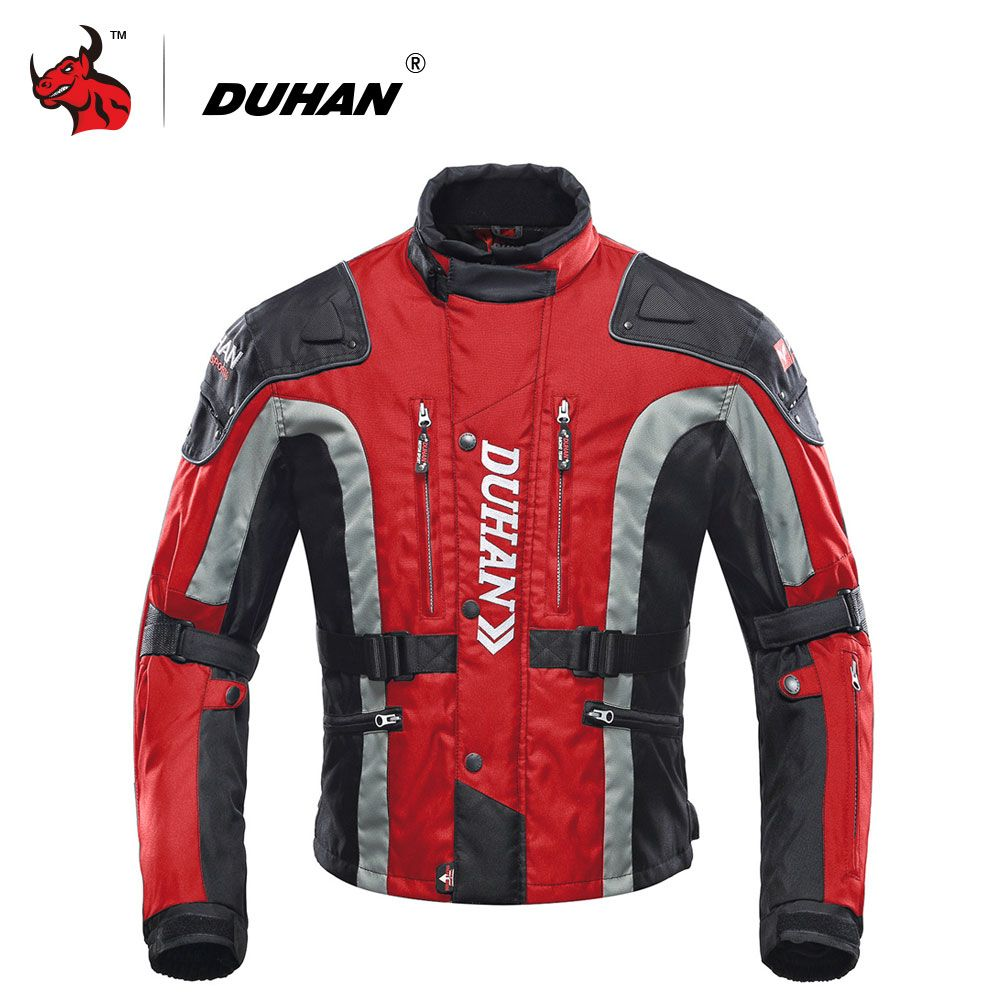 DUHAN Motorcycle Clothing Motocross Equipment Gear Cotton Underwear Cold-proof Moto Jacket 600D Oxford Cloth Motorcycle Jacket