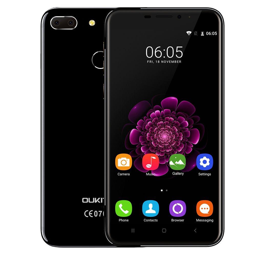 OUKITEL U20 Plus Dual Cameras 4G Smartphone 5.5'' IPS Screen Android 6.0 MTK6737 Quad Core Mobilephone 2GB+16GB 13MP Fingerprint