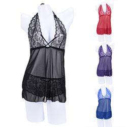 2 pcs/Set V Dalam leher Gaun Pakaian Padat Wanita Sexy Lingerie Korset Dengan G-string Pakaian Tidur
