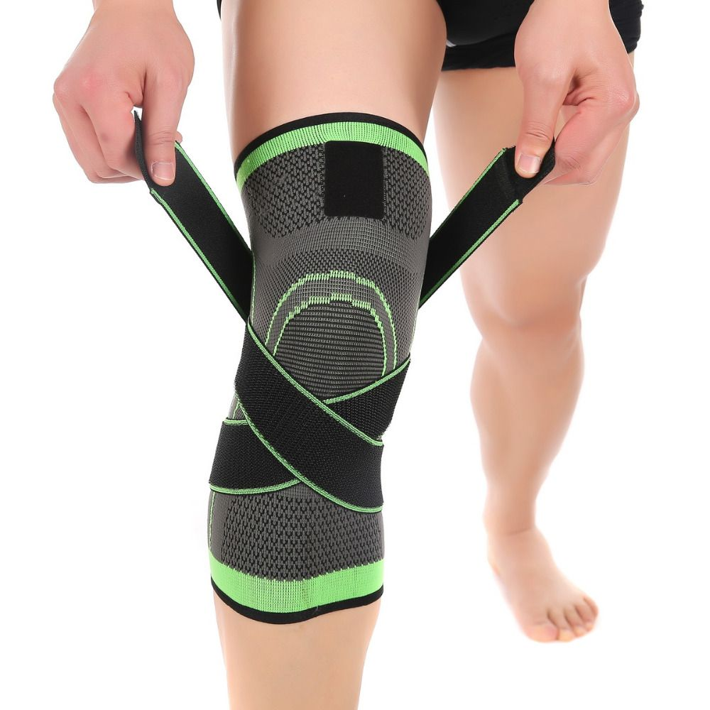 1 Pcs 3d Pressurized Fitness Running Cycling Knee Support Braces Elastic Nylon Sport Compression Pads Sleeve for Basketball