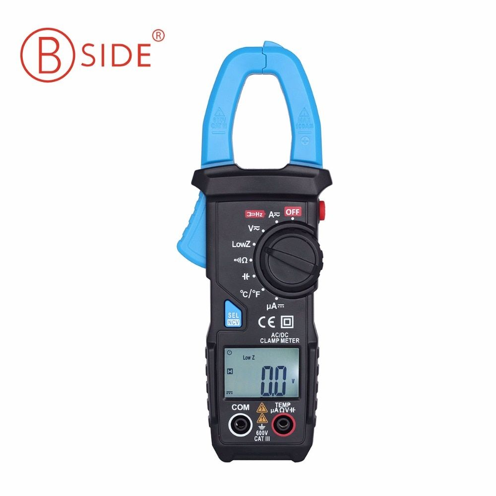 BSIDE 600A AC/DC Clamp Meters Current Voltage Capacitor Temperature Multimeter NCV <font><b>Tester</b></font> VS MS2108A
