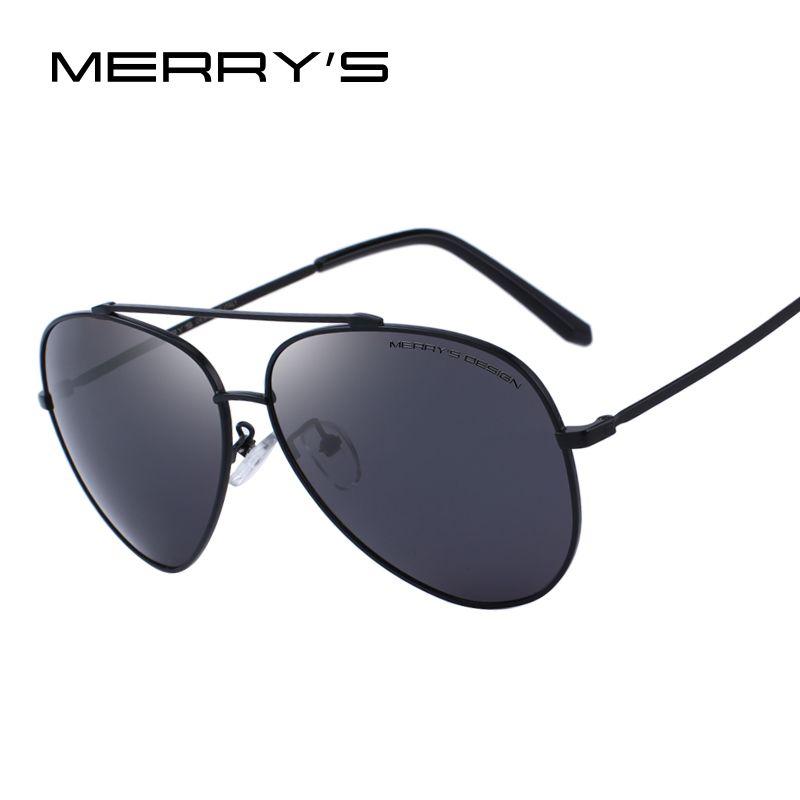 MERRY'S DESIGN Men Classic Pilot Polarized Sunglasses For Driving UV400 Protection S'8805