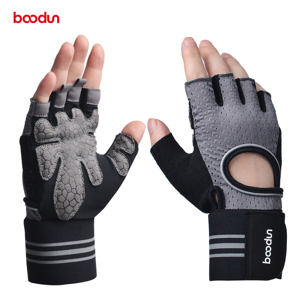 BOODUN Men Women's Gym Gloves Dumbbell Workout Sports Powerlifting Weightlifting Crossfit Gloves Body Building Fitness Equipment