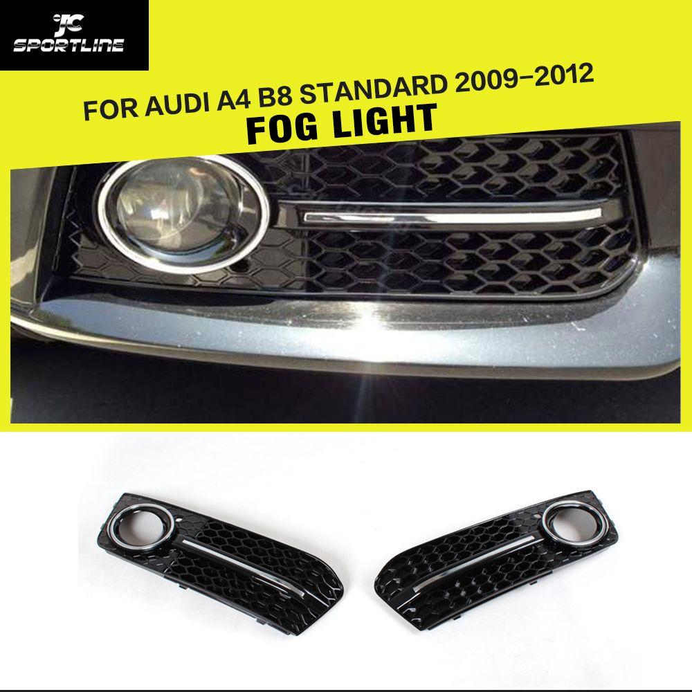 Car ABS Auto Side Fog Light Cover Trims for Audi A4 B8 Standard 2009-2012 2pcs/set
